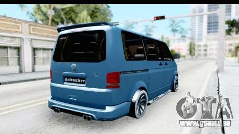 Volkswagen Caravelle pour GTA San Andreas sur la vue arrière gauche