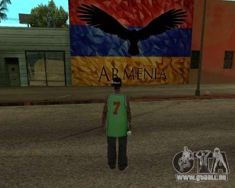 Grove Street Armenian Flag für GTA San Andreas zweiten Screenshot