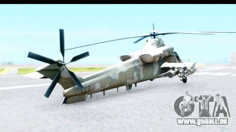Denel AH-2 Rooivalk für GTA San Andreas zurück linke Ansicht
