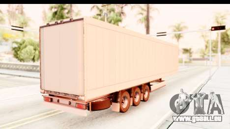 Trailer ETS2 v2 Nr. 2 pour GTA San Andreas sur la vue arrière gauche