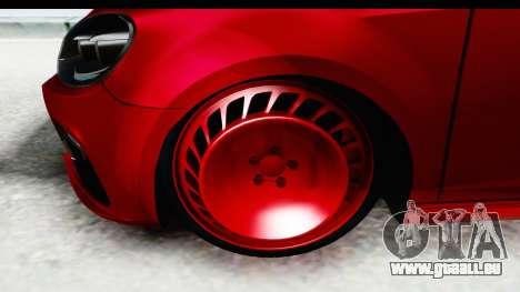 Volkswagen Golf R pour GTA San Andreas vue arrière