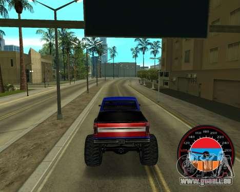 Der Tacho im Stil der Armenischen Flagge V 2.0 für GTA San Andreas fünften Screenshot