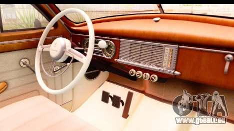 Packard Standart Eight 1948 Touring Sedan pour GTA San Andreas vue intérieure
