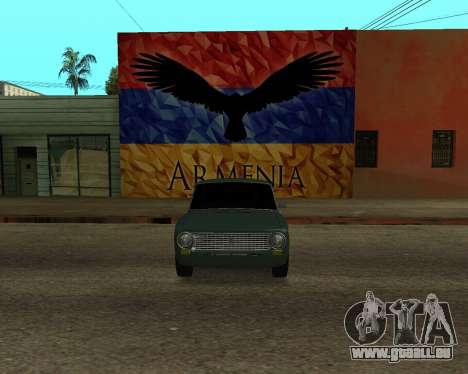 VAZ 2101 Armenian pour GTA San Andreas vue de droite