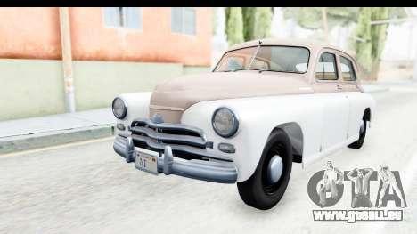 GAZ М20В Victoire 1955 SA Plaque pour GTA San Andreas