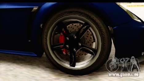 GTA 5 Dewbauchee Rapid GT pour GTA San Andreas vue arrière