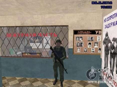 Le conducteur de la MIA pour GTA San Andreas cinquième écran