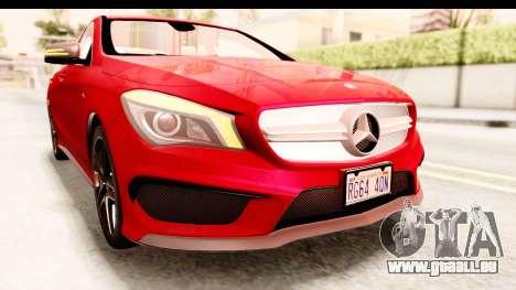 Mercedes-Benz CLA45 AMG 2014 pour GTA San Andreas vue de dessus