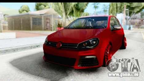 Volkswagen Golf R pour GTA San Andreas sur la vue arrière gauche