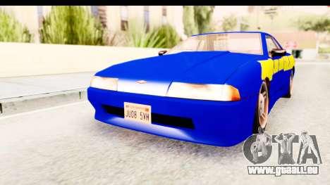 NFSU2 Tutorial Skyline Paintjob for Elegy pour GTA San Andreas sur la vue arrière gauche