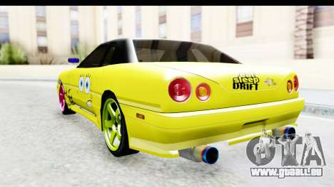 Elegy SpongeBob Version pour GTA San Andreas vue de droite