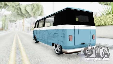 New Camper pour GTA San Andreas sur la vue arrière gauche
