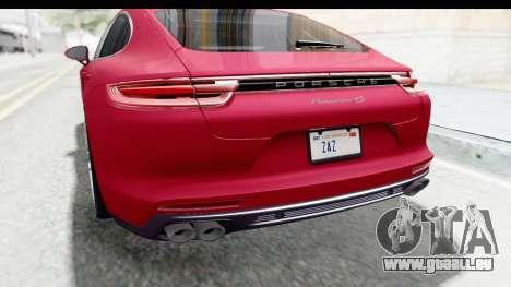 Porsche Panamera 4S 2017 v2 pour GTA San Andreas salon