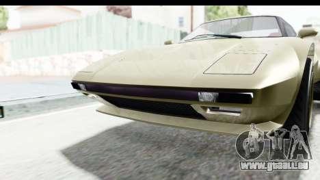 GTA 5 Lampadati Tropos Rallye IVF pour GTA San Andreas vue intérieure
