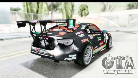 D1GP Toyota 86 2015 DRIVE für GTA San Andreas linke Ansicht