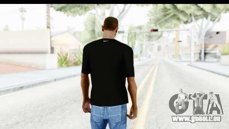 Nike MVP T-Shirt pour GTA San Andreas troisième écran