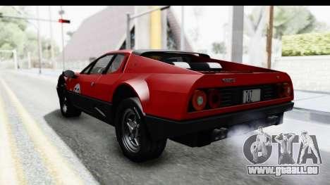 Ferrari 512 GT4 BB 1976 pour GTA San Andreas vue de dessous