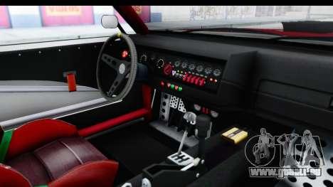 GTA 5 Declasse Drift Tampa IVF pour GTA San Andreas vue intérieure