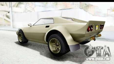 GTA 5 Lampadati Tropos Rallye IVF pour GTA San Andreas vue de droite