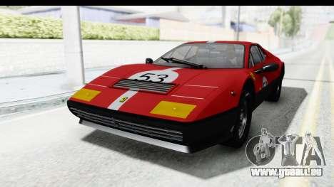 Ferrari 512 GT4 BB 1976 pour GTA San Andreas vue de dessus