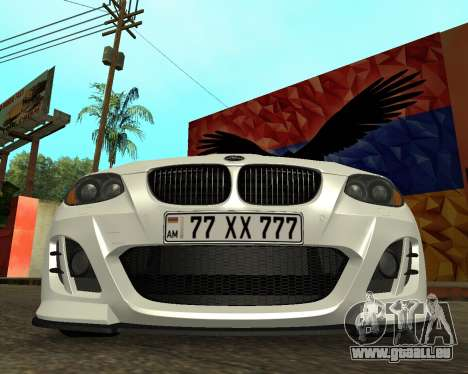 BMW M3 Armenian für GTA San Andreas Rückansicht