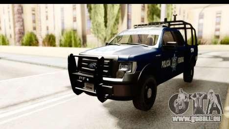 Ford F-150 Federal Police pour GTA San Andreas sur la vue arrière gauche