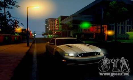 Ford Mustang pour GTA San Andreas sur la vue arrière gauche