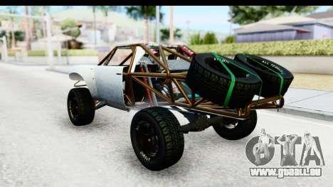 GTA 5 Trophy Truck SA Lights PJ pour GTA San Andreas sur la vue arrière gauche