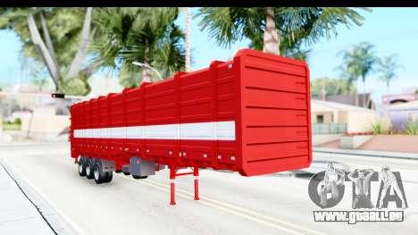 Trailer Cargo pour GTA San Andreas vue de droite