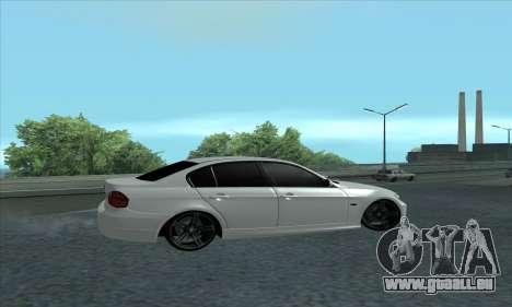 BMW 325i E90 pour GTA San Andreas sur la vue arrière gauche