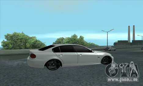 BMW 325i E90 für GTA San Andreas zurück linke Ansicht
