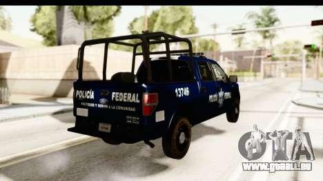 Ford F-150 Federal Police pour GTA San Andreas vue de droite