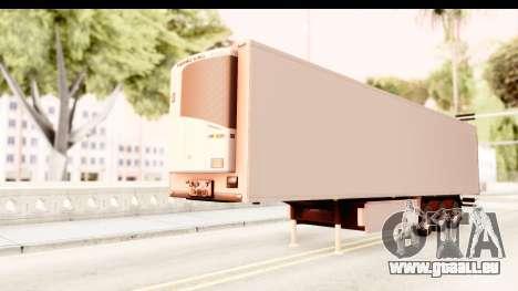 Trailer ETS2 v2 New Skin 1 pour GTA San Andreas vue de droite