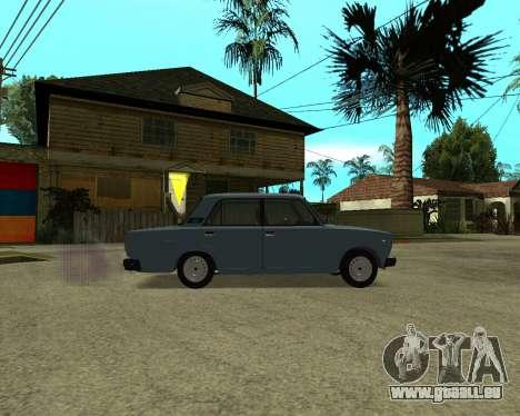 VAZ 2107 Armenian pour GTA San Andreas vue de dessous