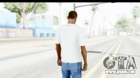Nike Kyrie Notebook T-Shirt pour GTA San Andreas troisième écran