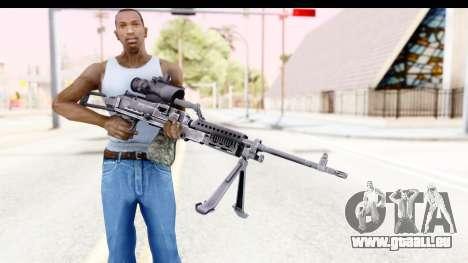M240 FSK pour GTA San Andreas troisième écran