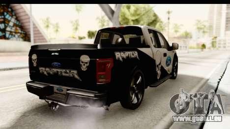 Ford F-150 Tuning pour GTA San Andreas sur la vue arrière gauche