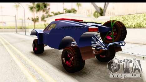 GTA 5 Desert Raid SA Lights pour GTA San Andreas sur la vue arrière gauche