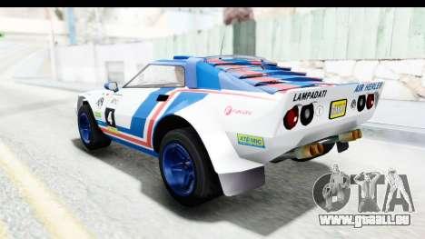 GTA 5 Lampadati Tropos Rallye IVF pour GTA San Andreas roue