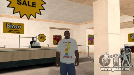 Bart Simpson T-Shirt für GTA San Andreas