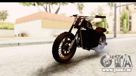 GTA 5 Western Cliffhanger Custom v2 pour GTA San Andreas vue de droite