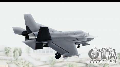 Lockheed Martin F-35B Lightning II pour GTA San Andreas laissé vue