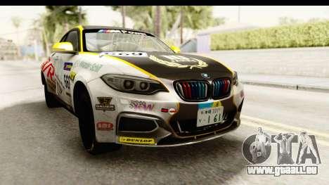 BMW M235i Coupe pour GTA San Andreas vue de droite