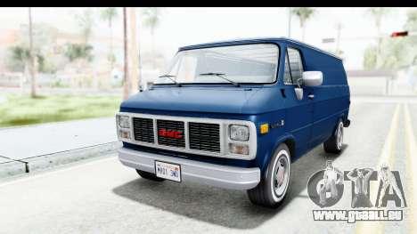 GMC Vandura 1985 White Stripes HQLM pour GTA San Andreas