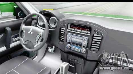 Mitsubishi Montero Carabiniers Section SIAT pour GTA San Andreas vue intérieure