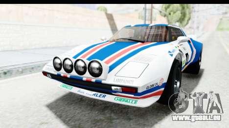 GTA 5 Lampadati Tropos SA Lights pour GTA San Andreas vue de côté
