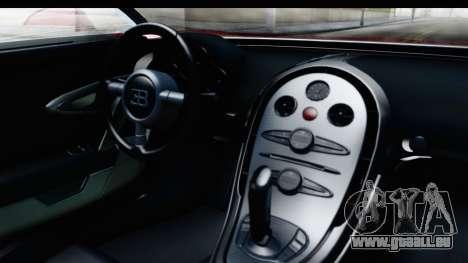Bugatti Chiron 2017 v2 pour GTA San Andreas vue intérieure