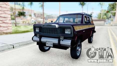 Jeep Grand Wagoneer pour GTA San Andreas vue de droite