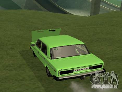 VAZ 2106 pour GVR pour GTA San Andreas laissé vue