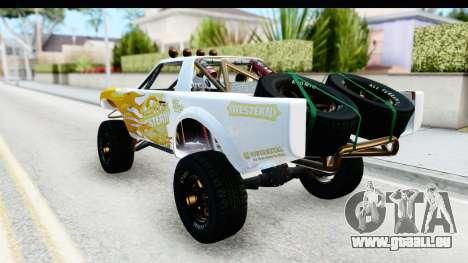 GTA 5 Trophy Truck SA Lights PJ pour GTA San Andreas vue de dessus